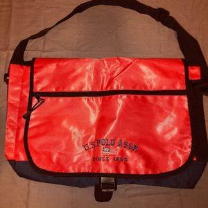 Red US Polo Assn. Messenger bag.